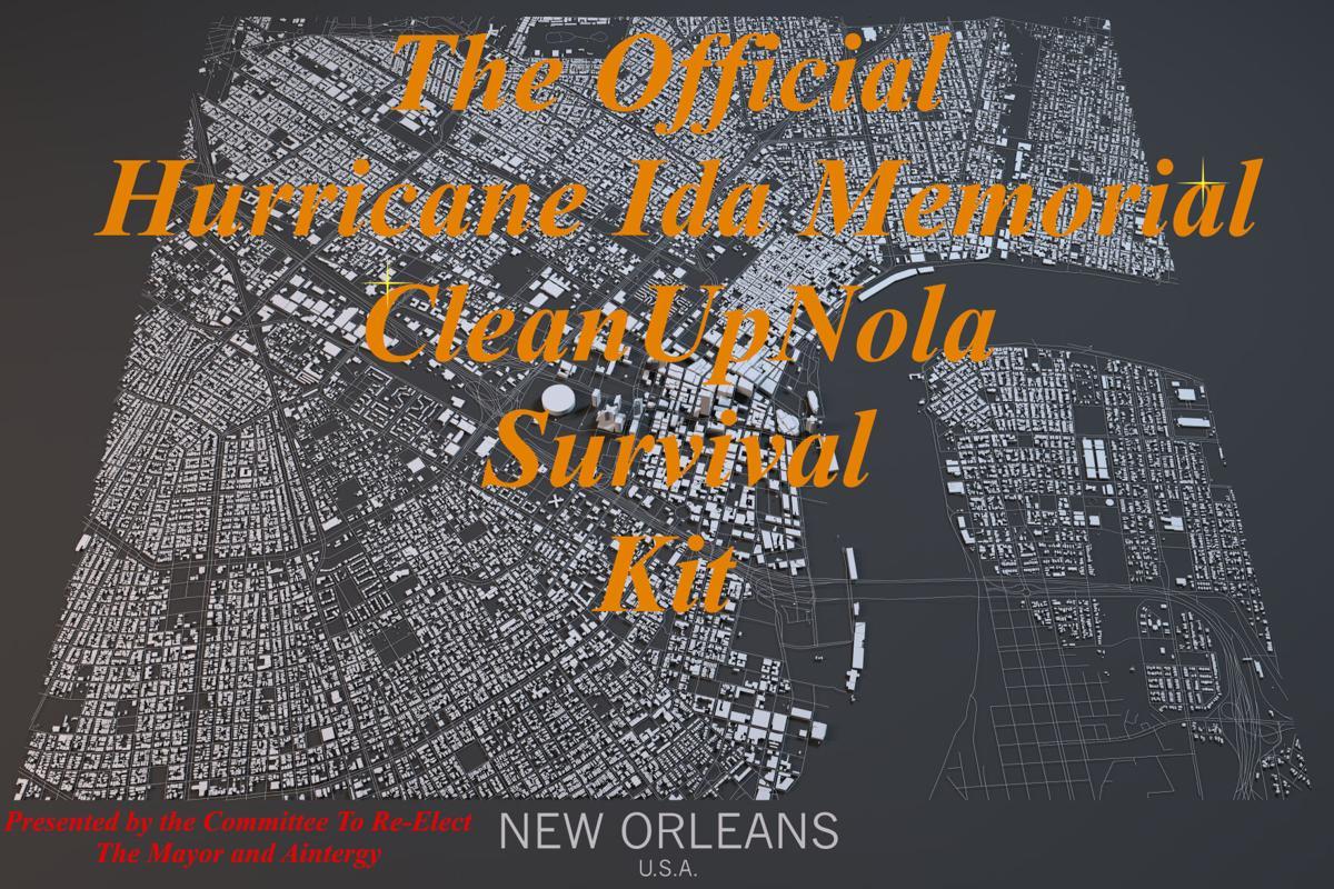 Hurricane Ida memorial cleanupnola survival kit graphic