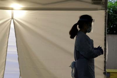 Coronavirus file photo stock of nurse
