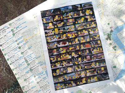 Simpsons storyboard