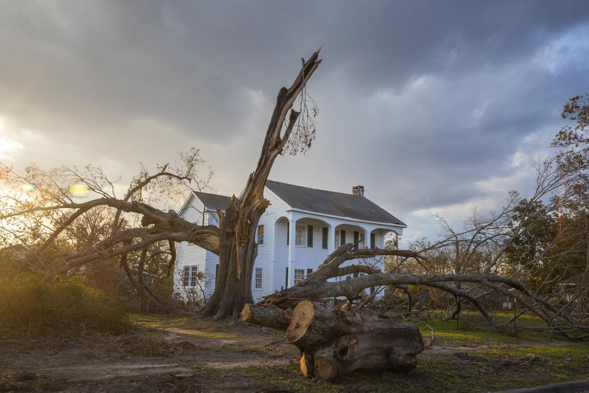 Hurricane Laura damage in Lake Charles
