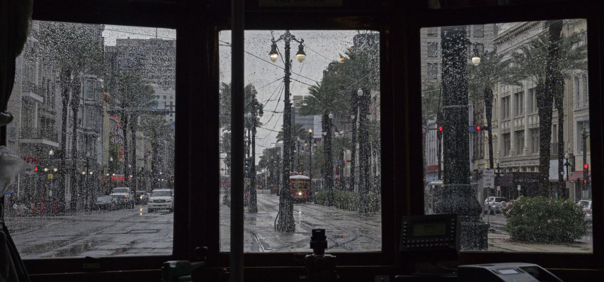 St. Charles streetcar on Canal Street in New Orleans