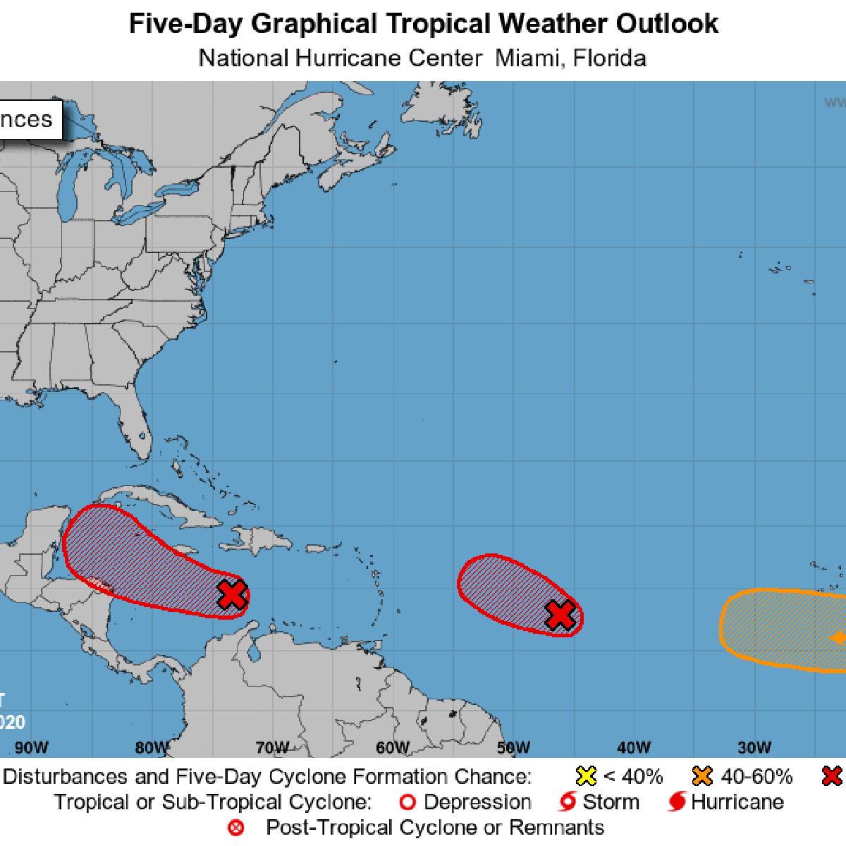 Hurricane Center Track These 3 Disturbances And Their Chances Of Development Hurricane Center Nola Com