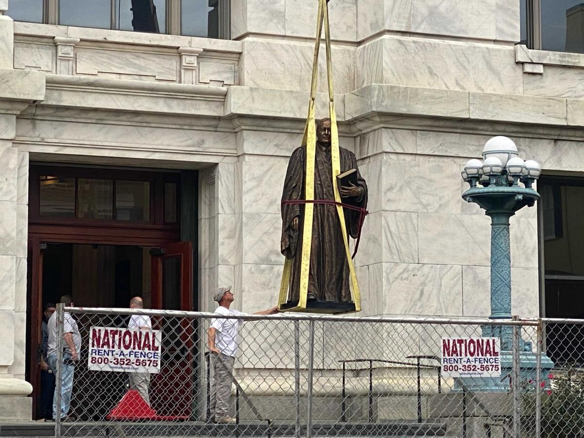 E.D. White statue removal