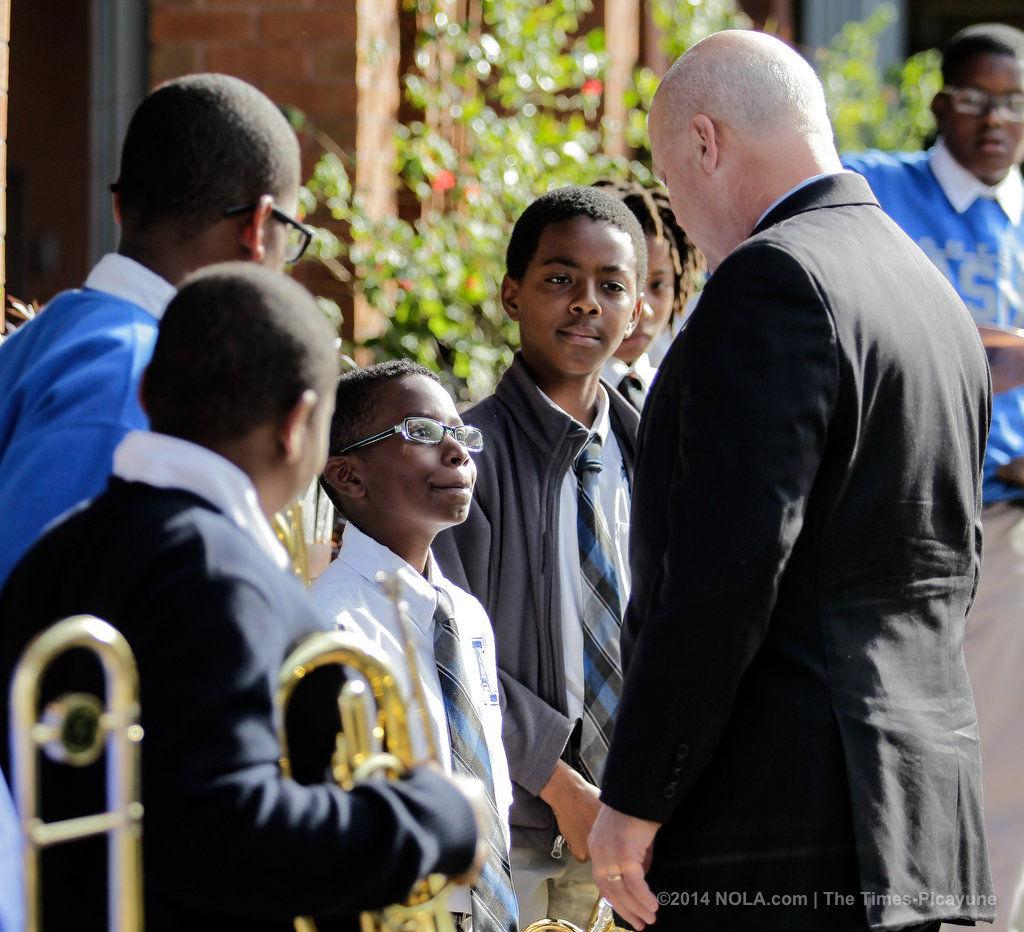 U.S. Secretary of Education Arne Duncan and Mayor Mitch Landrieu tour Arthur Ashe Charter School