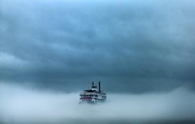 Foggy Day on the Mississippi file photo