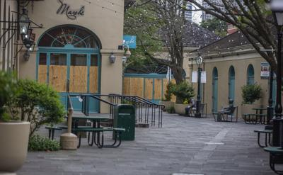 Coronavirus file photo stock of closed New Orleans business