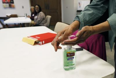 Coronavirus stock file photo of hand sanitizer
