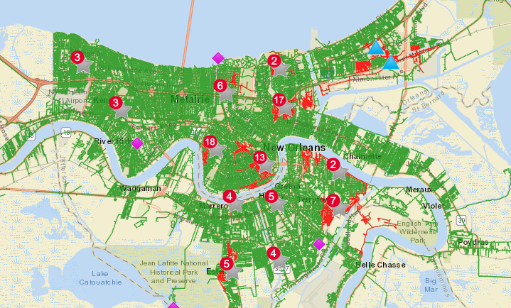 Entergy outage map Feb. 16 2021
