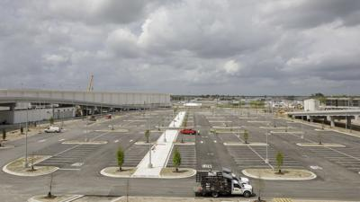 Work continues at New Orleans' new airport terminal
