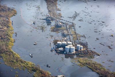 Oil spill near Lafitte.