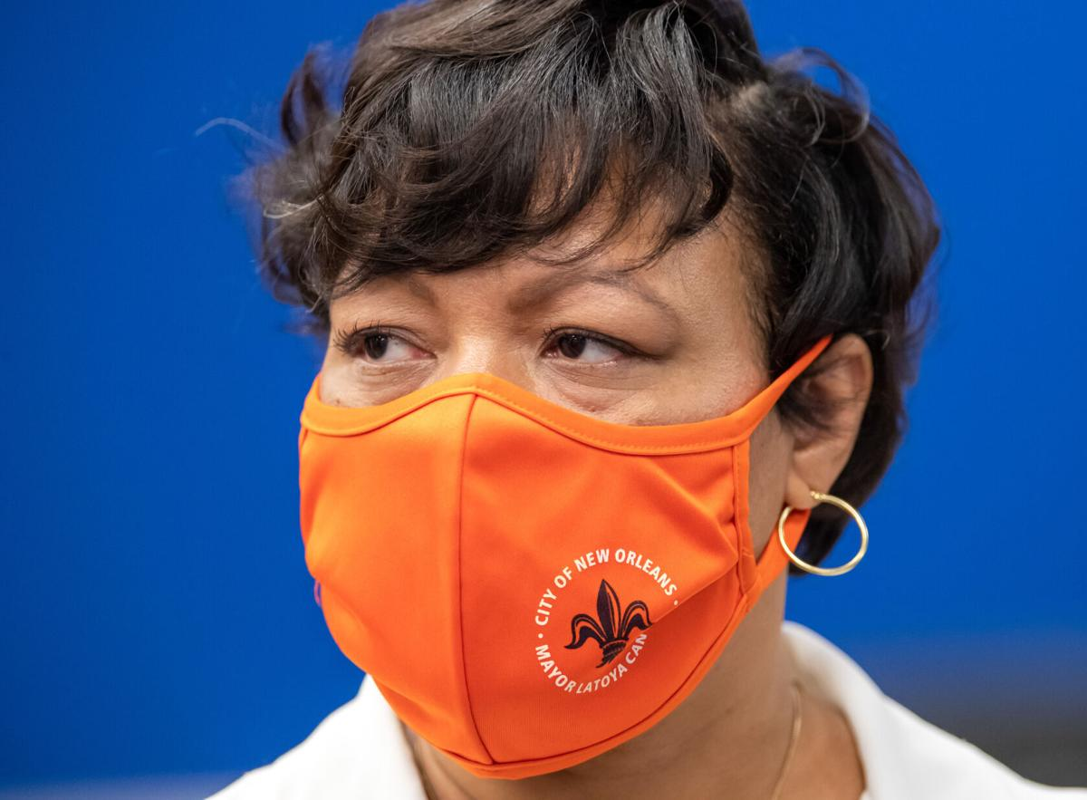 Mayor Cantrell w/ mask on