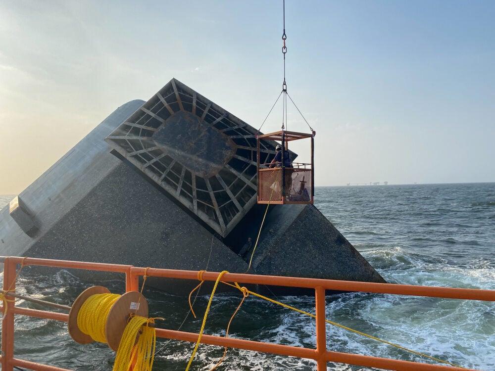 Seacor Power salvage, May 5, 2021