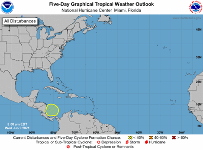 Tropical weather outlook 7am June9