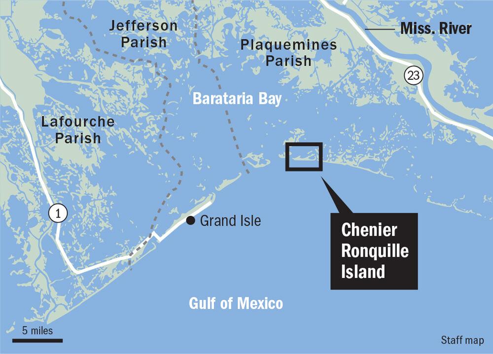 Chenier Ronquille barrier island