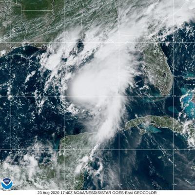 Bird's eye view of Hurricane Marco