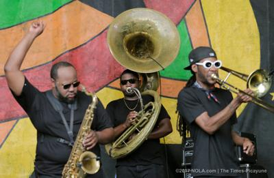 Nas lifted by Soul Rebels' horns in joyous set at New Orleans Jazz Fest (copy) (copy)