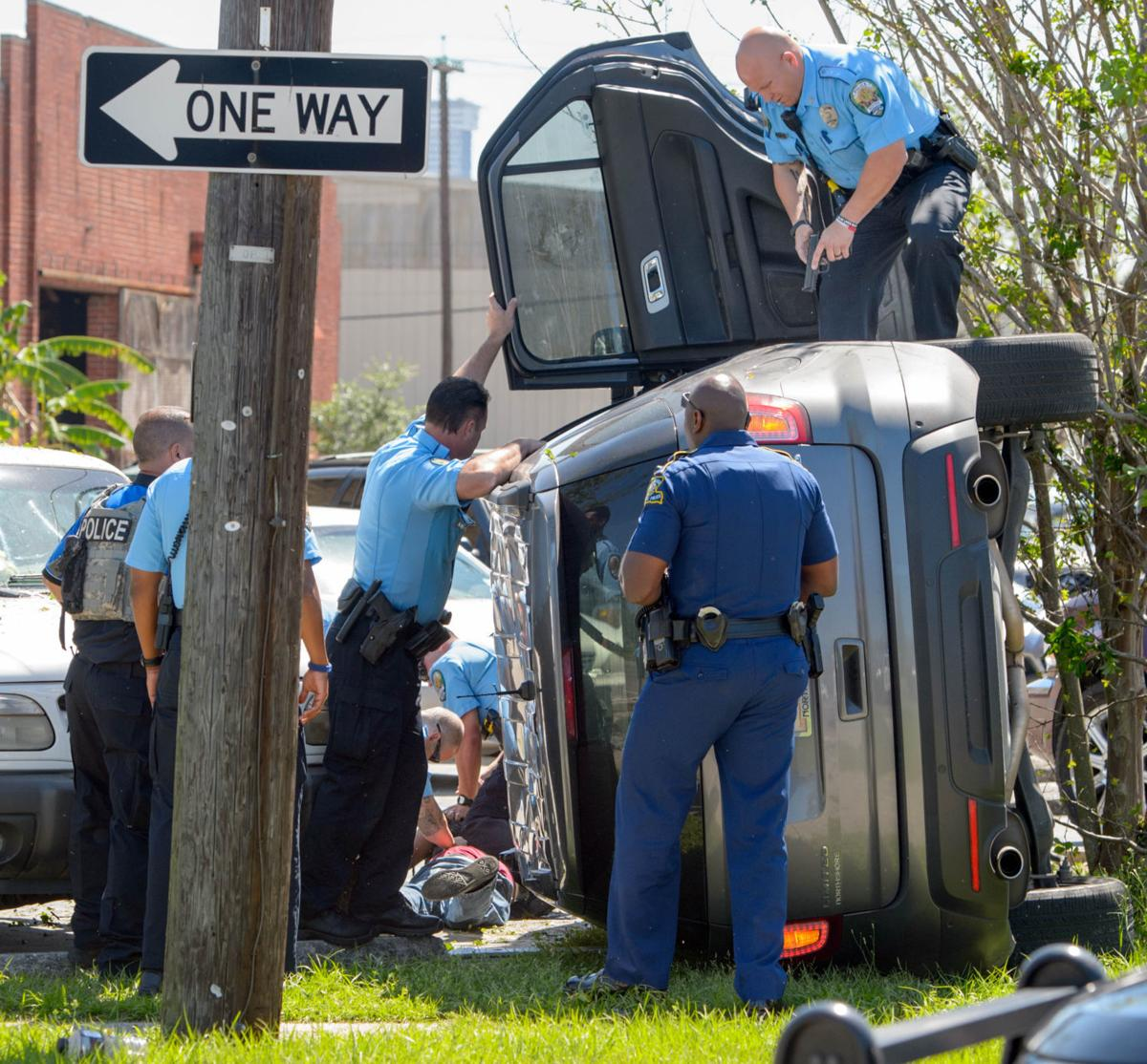 Kenner police: Man arrested after high-speed chase ends with flipped