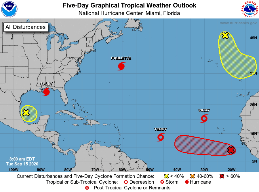 Tropical weather outlook 7am Tuesday