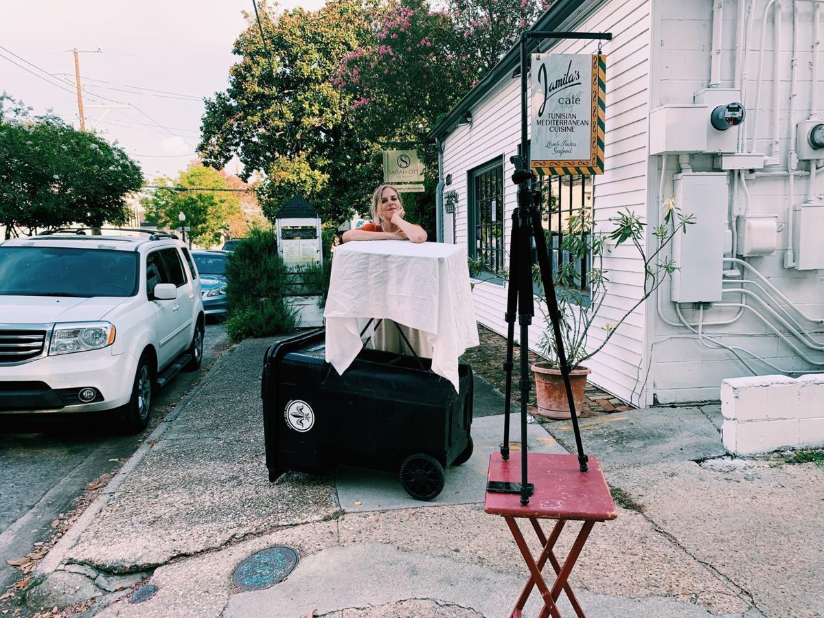 Katrin on set