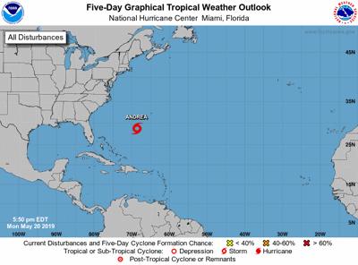 Subtropical Storm Andrea forms in Atlantic