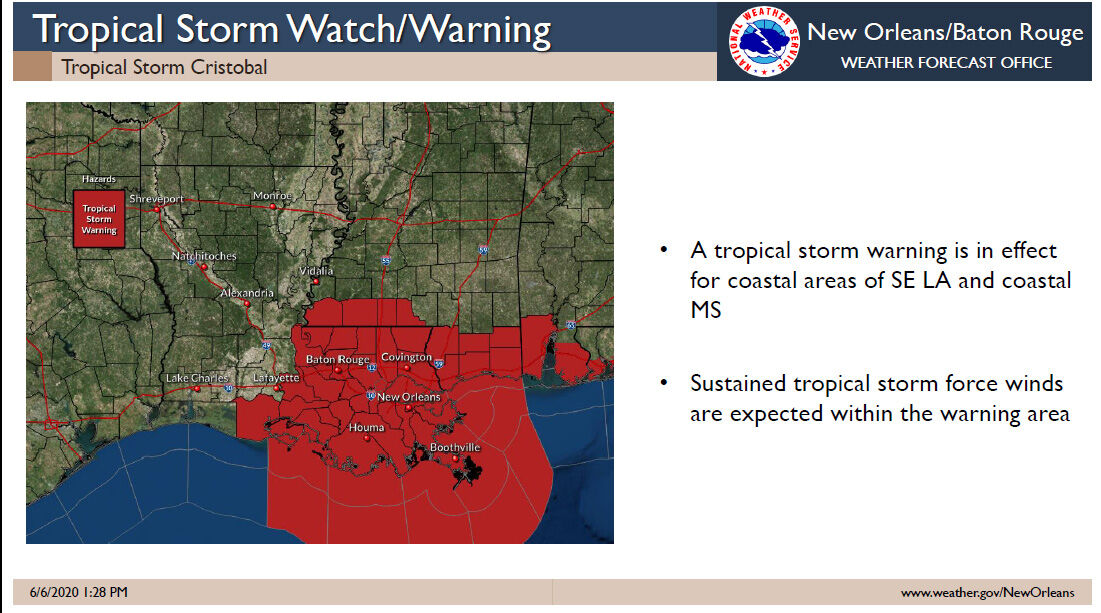 Tropical storm warning area