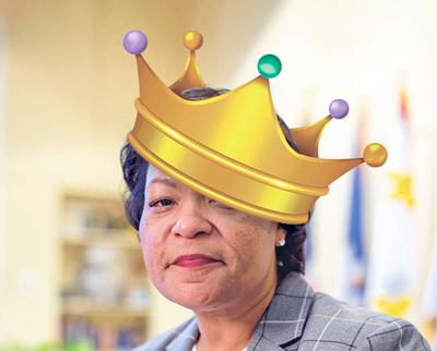 LaToya Cantrell with crown photo illustration