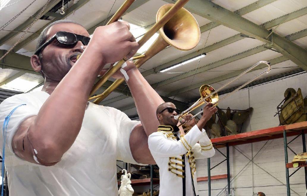 Krewe of Freret  Trombone Shorty float.