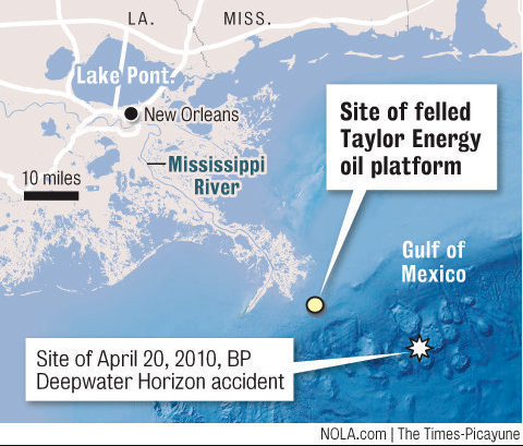 Taylor Energy spill map