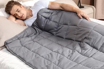 This discounted weighted blanket will help you go to sleep faster