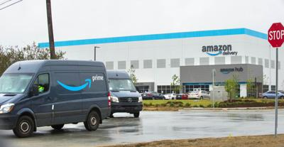 Amazon delivery hub in Baton Rouge