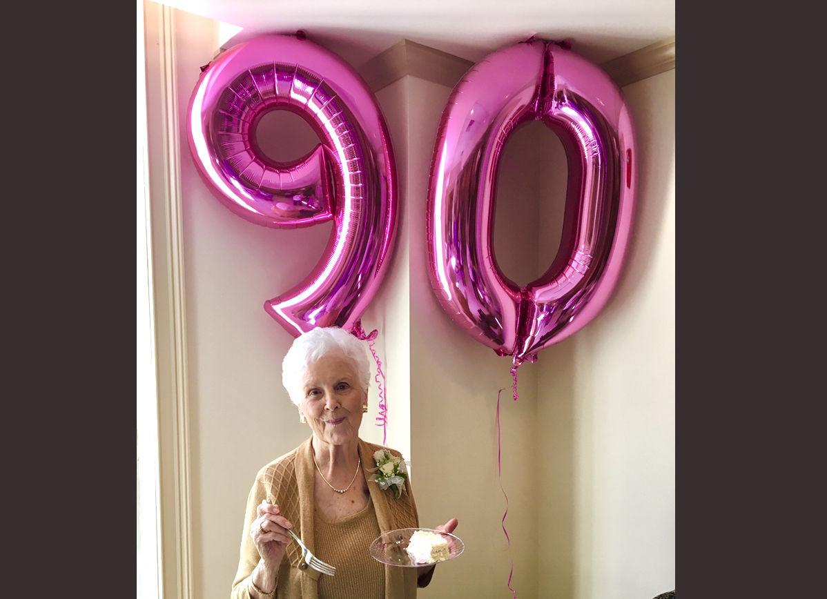 The late Elaine Donnaud Boudreau celebrates her 90th birthday