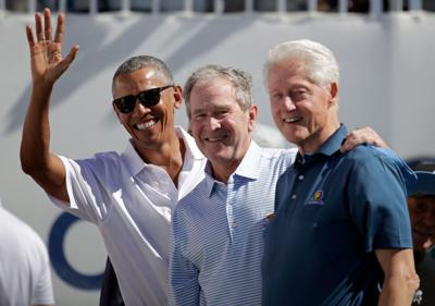 Barack Obama, George Bush and Bill Clinton