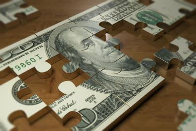 Dollar finance concept - Stock image