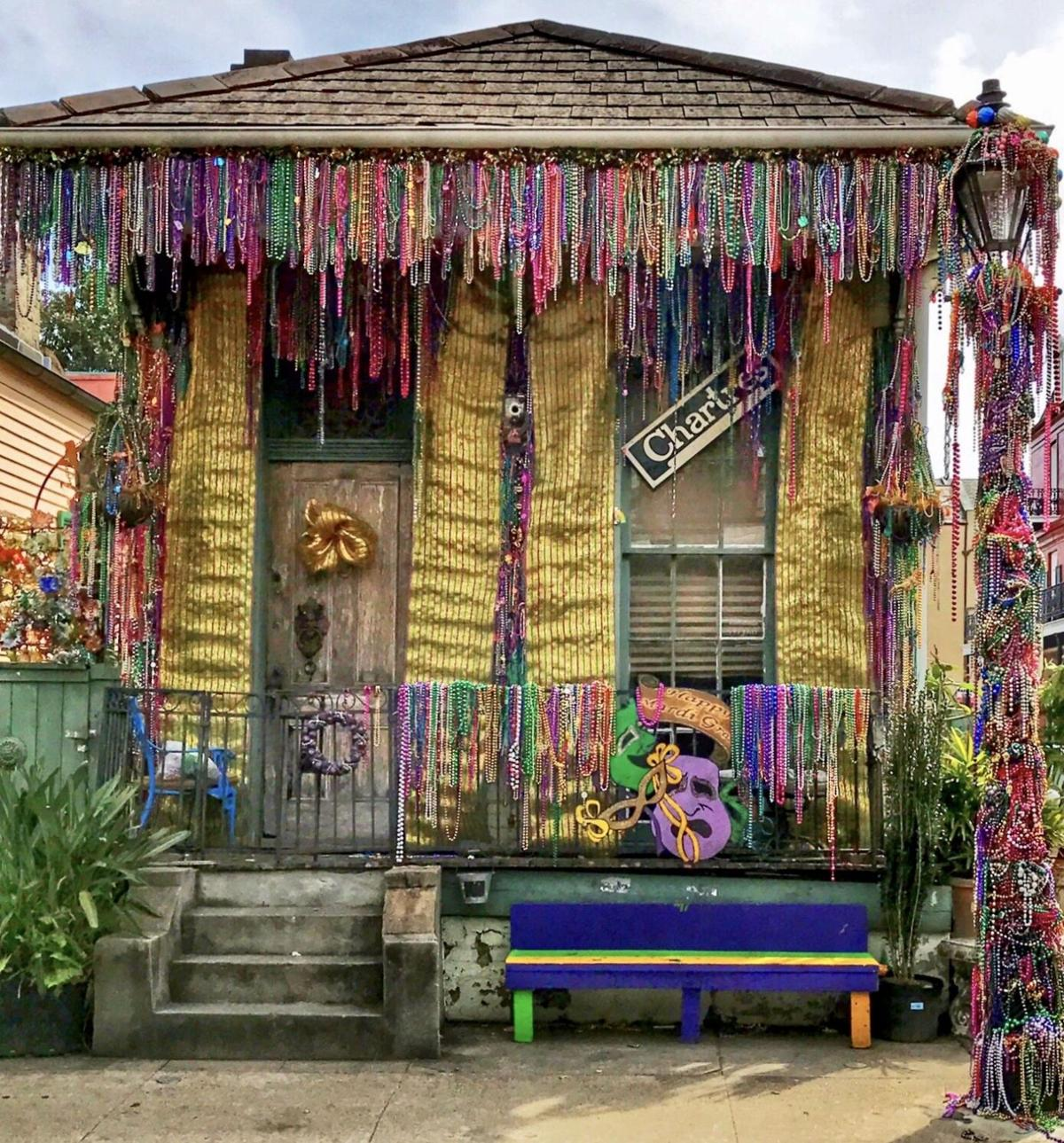 House with lavish Carnival decorations on Chartres Street. Photo by David Mora.jpeg
