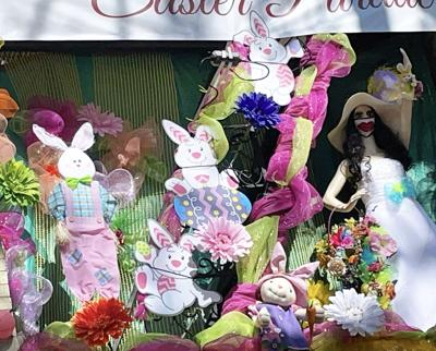 Mardi Gras house float dedicated to Chris Owens' Easter Parade, 2801 St. Charles Ave.