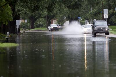 File photo of street flooding rainy day