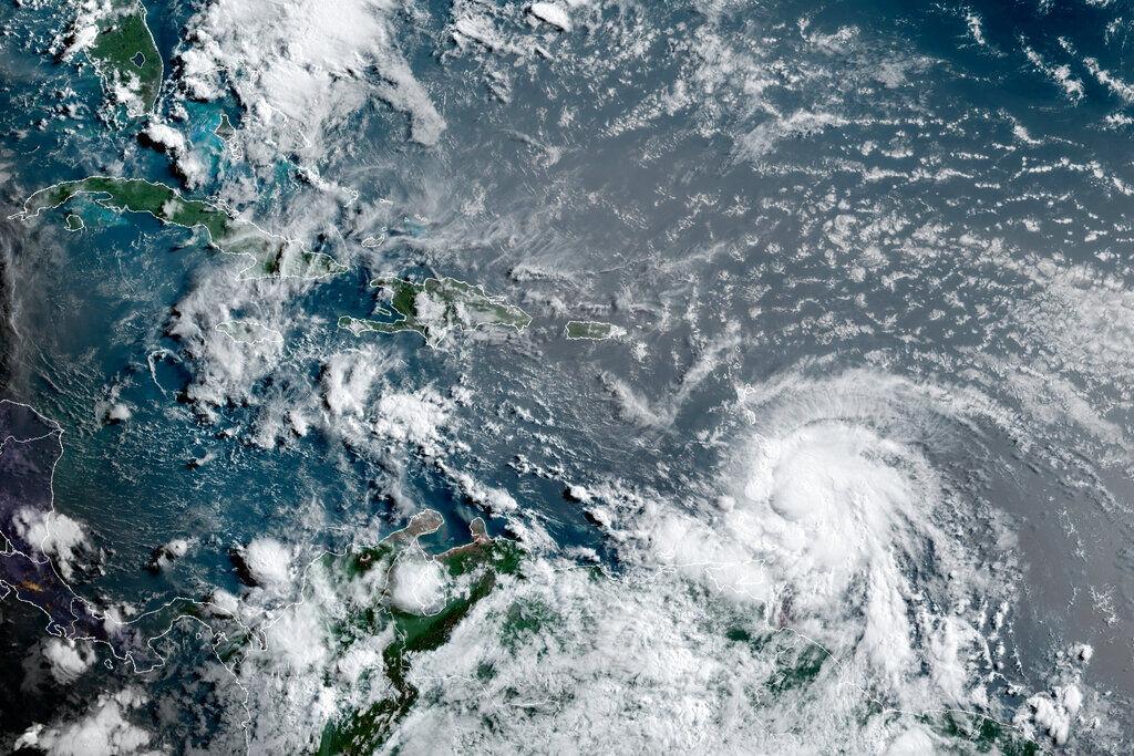 Hurricane Elsa satellite 7am July 2