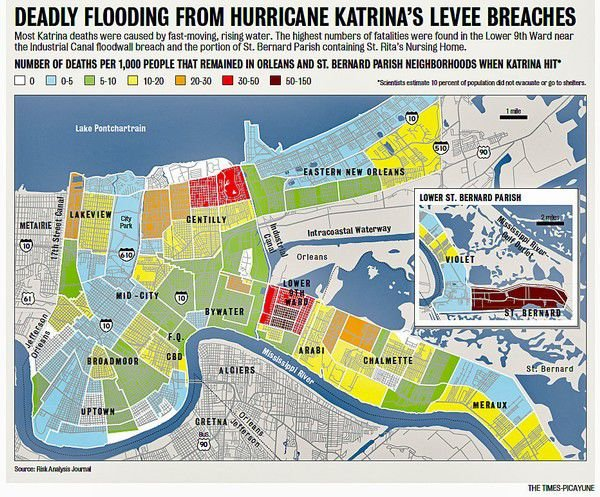 Study of Hurricane Katrina\'s dead show most were old, lived ...