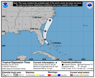 5 p.m. update National Hurricane Center July 22