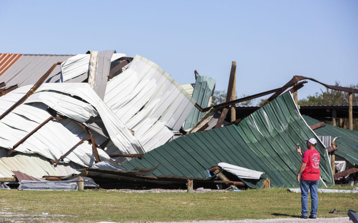 Hurricane Zeta damage in Hopedale