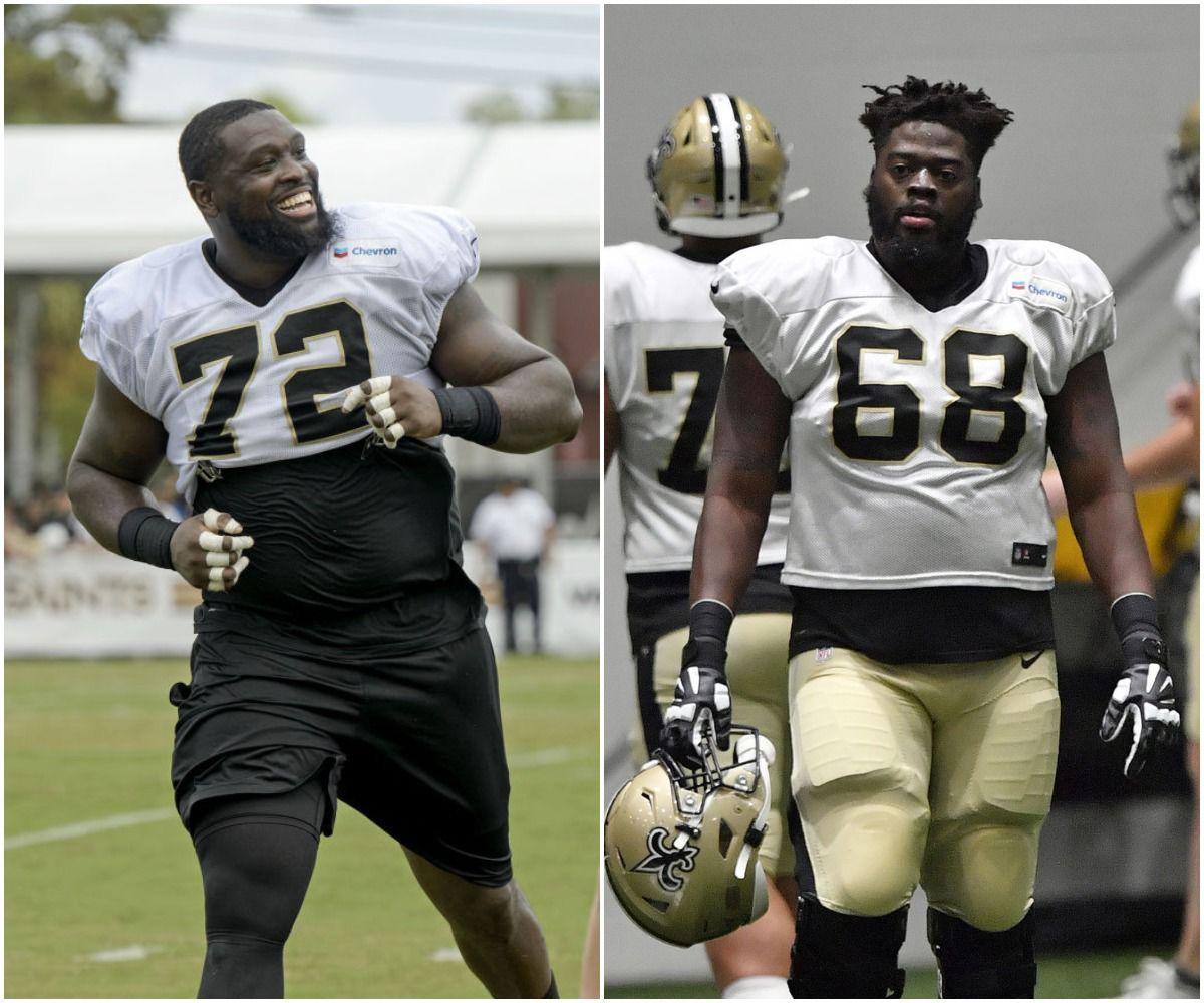 Terron Armstead (left) and Derrick Kelly (right)