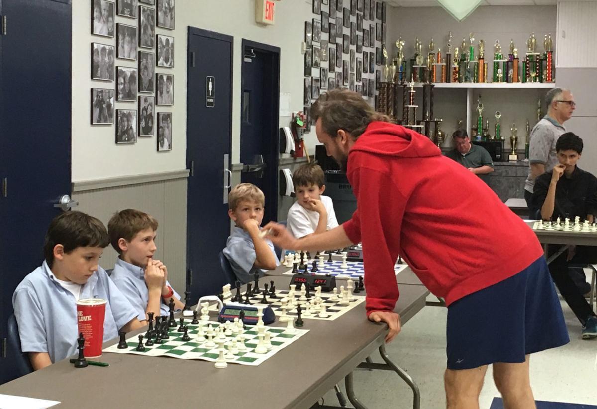 Stuart Hall Hosts Chess Exhibition with Chess Grandmaster