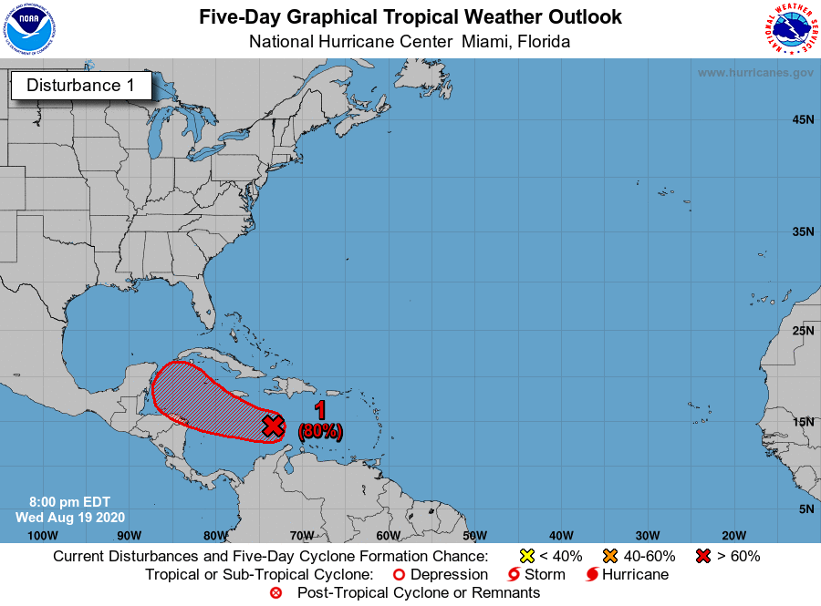 Tropics update Aug. 19 2020 7 pm