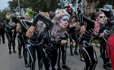 Krewe Of Boo Halloween Parade 2020 The 2018 Krewe of BOO! Halloween parade frightens the French