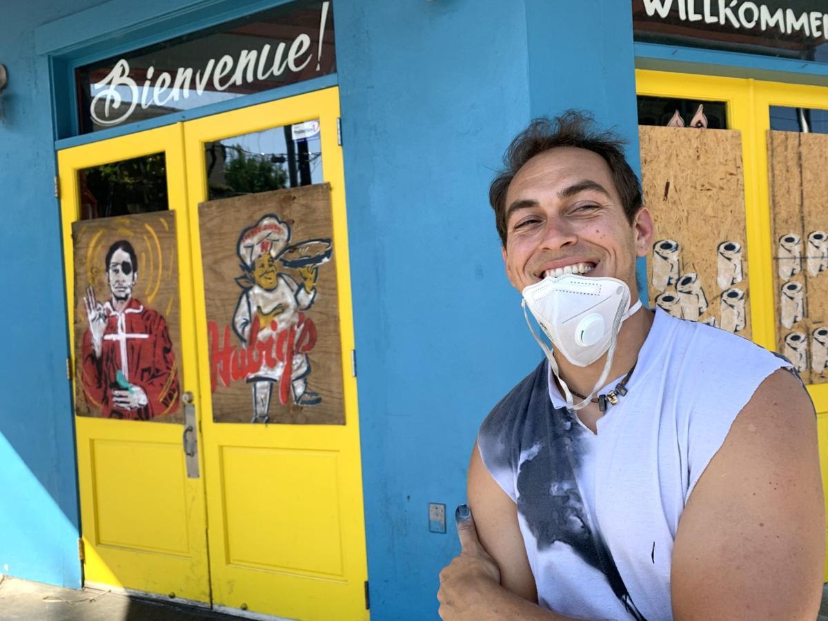 Graffiti artist Josh Wingerter's coronavirus-era paintings on Frenchmen Street were an overnight sensation