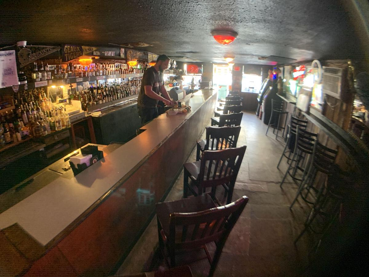 The Brothers Three Lounge may have the lowest, blackest ceiling anywhere