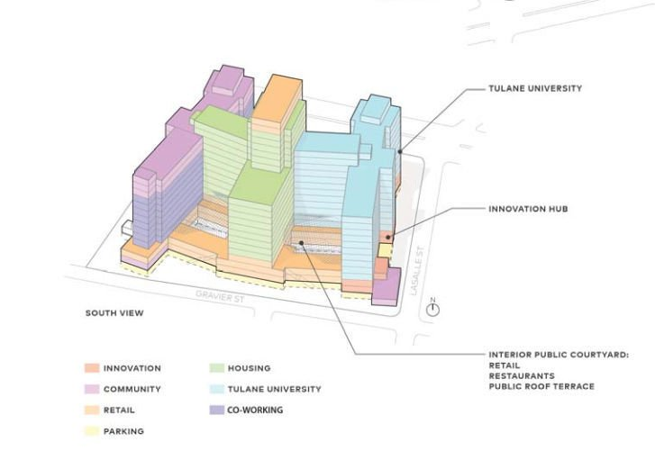Possible layouts emerge for Charity Hospital redevelopment