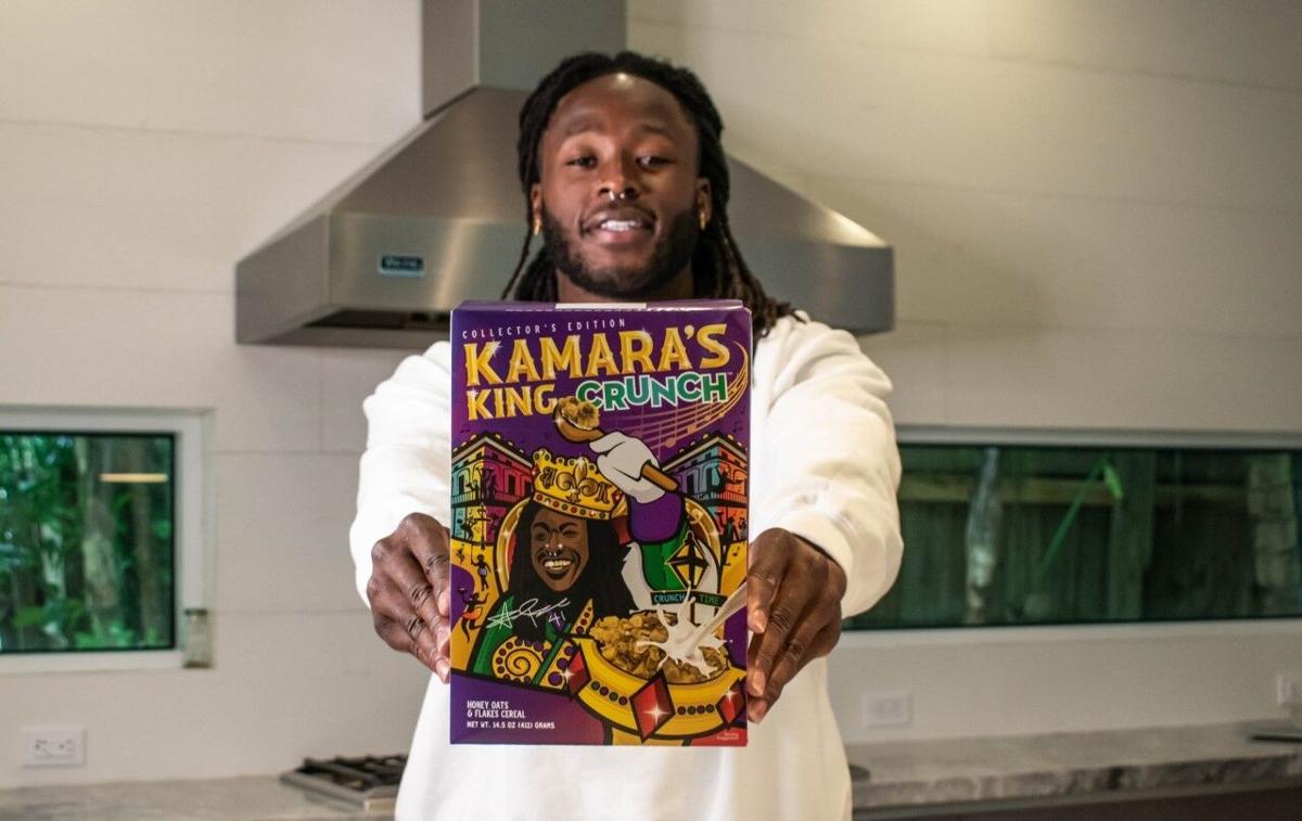Alvin Kamara's King Crunch Cereal