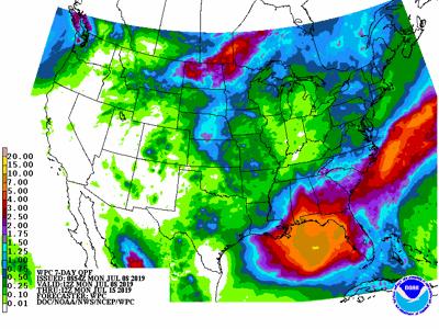 Rainfall threat