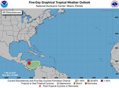 Tropical outlook 7am Monday